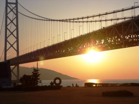 130112大橋の日没