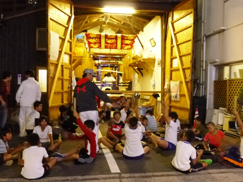 131003海神社秋祭り 練習風景
