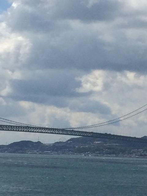 彼岸の明石海峡大橋