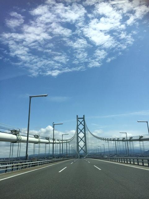 明石海峡大橋からの眺め