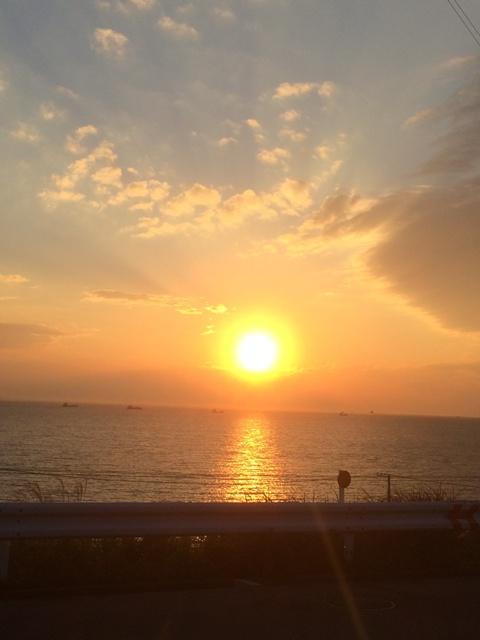小寒の夕日