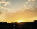高速からの夕日9月21日
