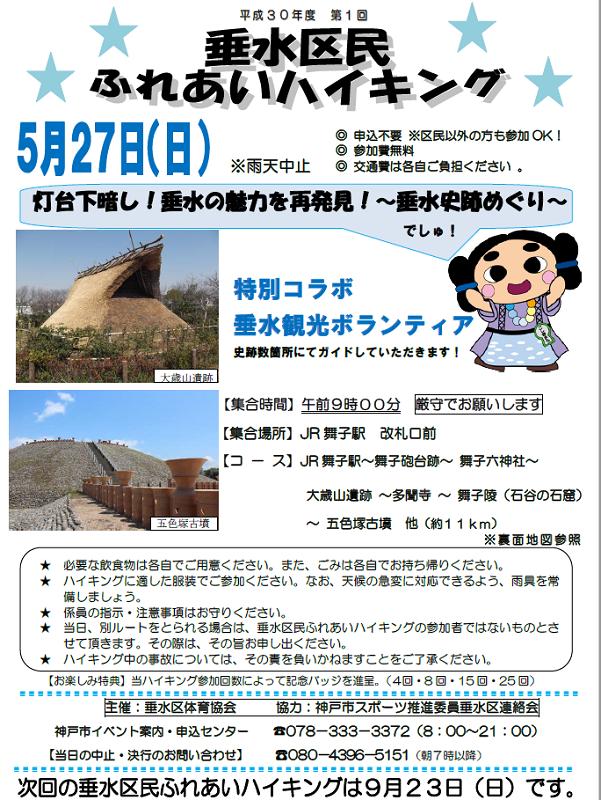 垂水区民ふれあいハイキング2018年5月27日(日)