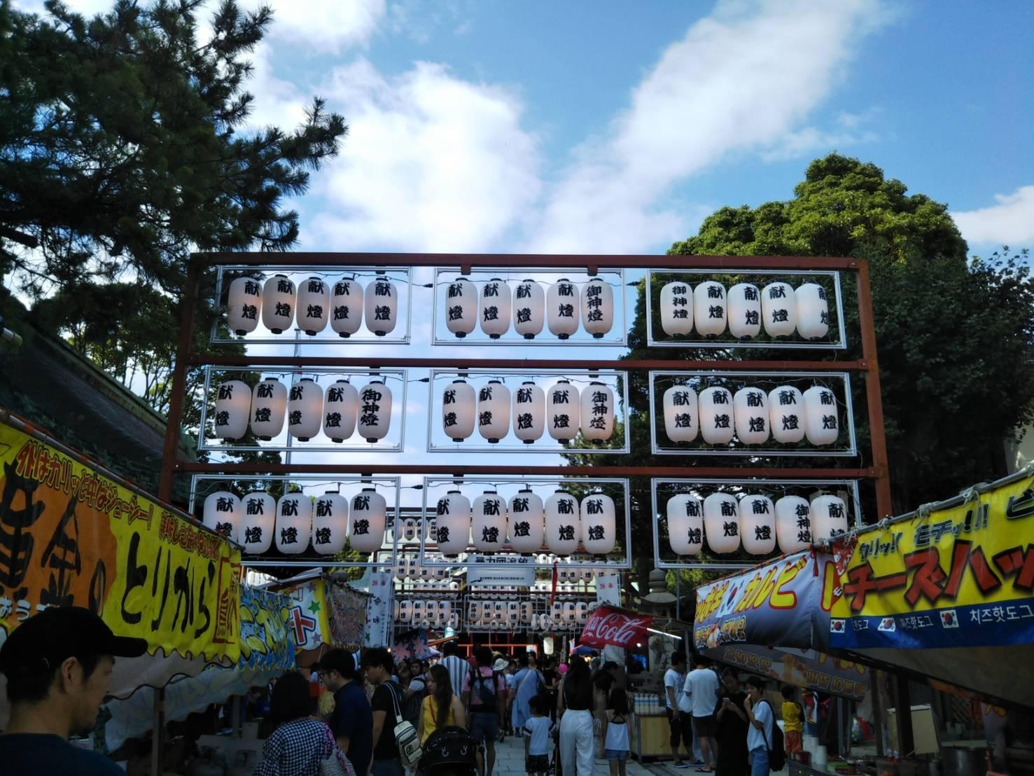 海神社の夏祭り